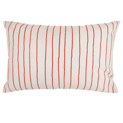 SIMPLE STRIPE RED RECTANGULAR CUSHION COVER