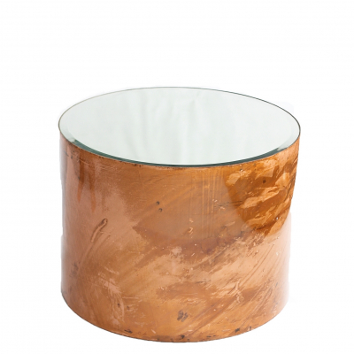 SMOOTH COPPER SIDE TABLE