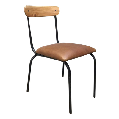 LEATHER PRIVAAT SKOOL DINING CHAIR