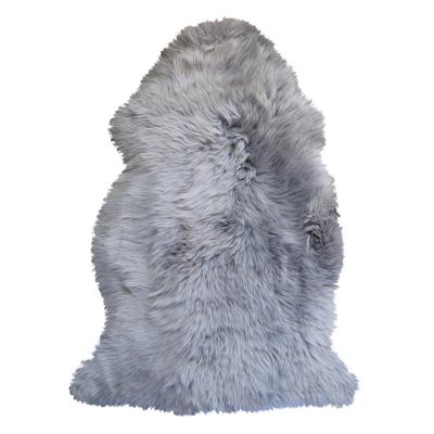 GREY LONG HAIRED SHEEPSKIN RUG