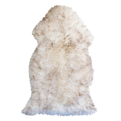 WOLF TIP LONG HAIRED SHEEPSKIN RUG
