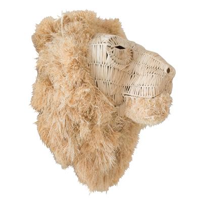 HANDMADE RAFFIA LION WALL HANGING
