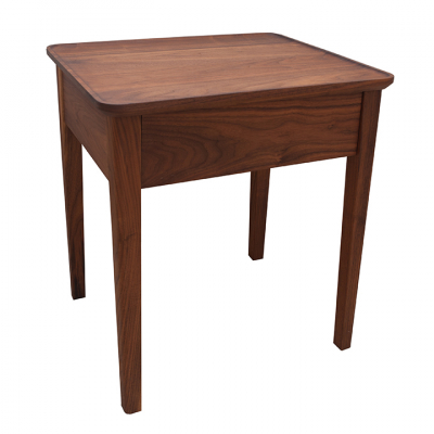 NINA BEDSIDE TABLE  WALNUT
