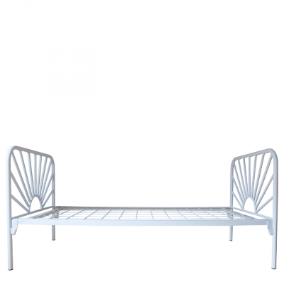 SUNRISE STEEL BED WHITE