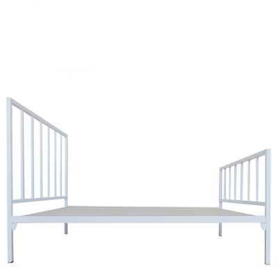 DARCY STEEL BED WHITE