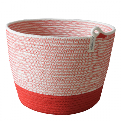 RED COTTON ROPE PLANTER BASKET
