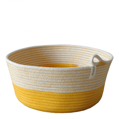 LEMON COTTON ROPE BOWL BASKET