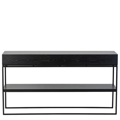 BLACK OAK TWO DRAWER SERVER