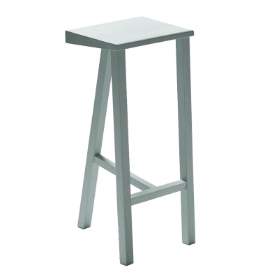 OAK THREE-LEGGED STOOL PAINTED