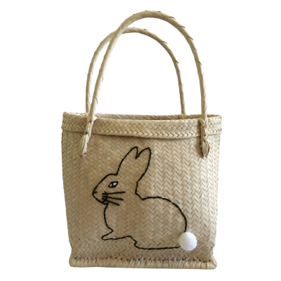BLACK BUNNY BASKET