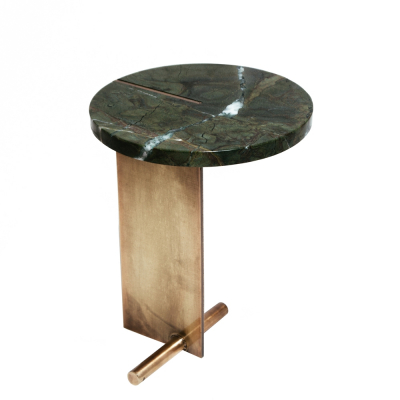 EMERALD MARBLE TOP SIDE TABLE