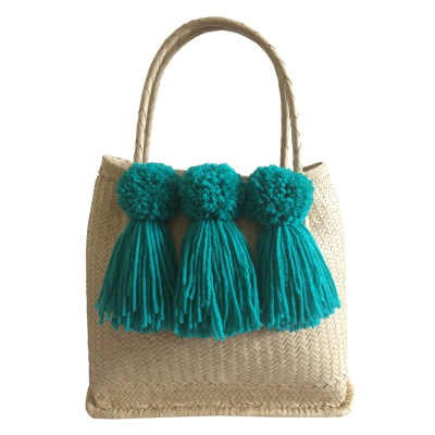 MINT TASSEL BASKET