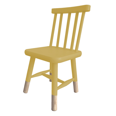 VINTAGE KIDS CHAIR MUSTARD