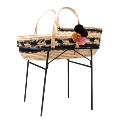 WEAVED MOSES BABY BASKET