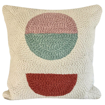 PUNCH NEEDLE CUSHION COVER FIVE