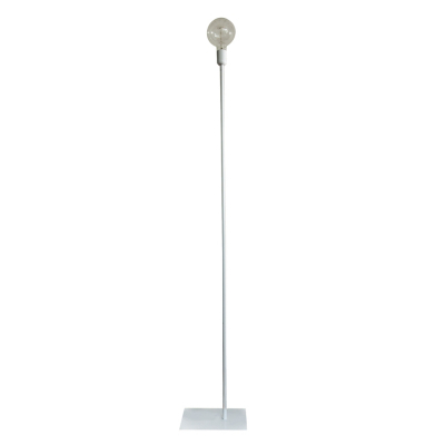 STRAIGHT UP WHITE FLOOR LAMP