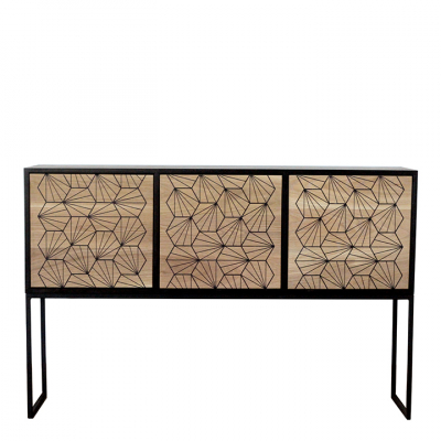 OAK SIDEBOARD WITH RESIN PATTERNS