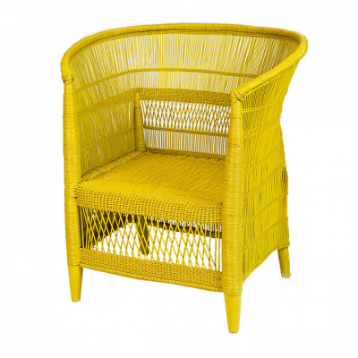 CANE CHAIR YELLOW